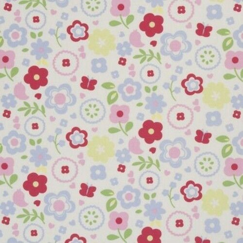 "Clarke and Clarke Retro Floral Chintz 137cm//54/"" wide"
