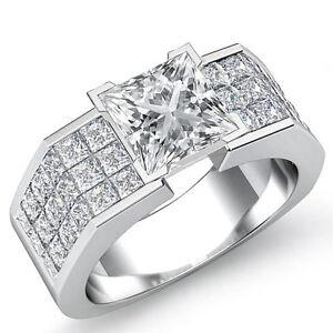 Brillante-Princesa-Diamante-Fino-Anillo-de-Compromiso-GIA-H-VS2-14k-Oro-Blanco