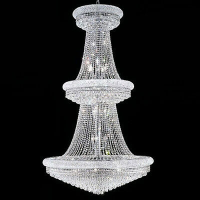New Crystal Chandelier Primo Chrome 38 Lights 42X72