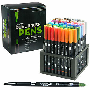 Tombow-56149-Dual-Brush-Pens-96-Color-Set-With-Desk-Stand