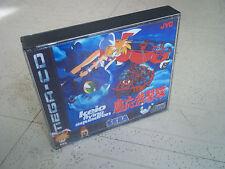Keio volando Escuadrón. Sega Mega CD PAL Estuche + incrustaciones solamente. sin juego