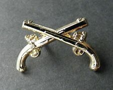 Crossed Military Guns Weapon Collar Lapel Hat Pin 1 inch