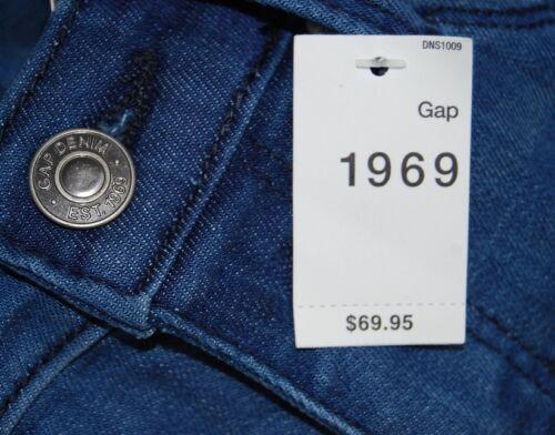 Gap women/'s 1969 denim jeggings leggings indigo skinny fitting $70 price NWT