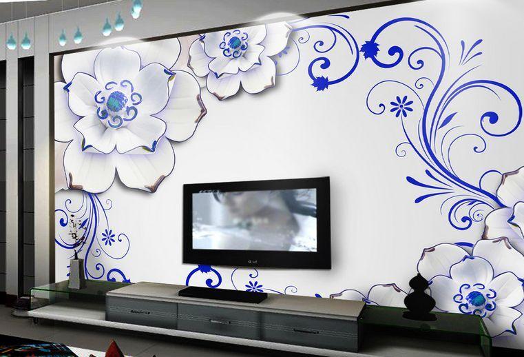 3D Lo Schema Blau 0 Parete Murale Carta da parati immagine sfondo muro stampa
