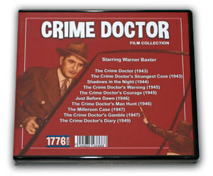 CRIME DOCTOR FILM COLLECTION - 5 DVD - 10 MOVIES - with