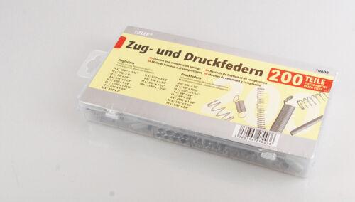 Federn Sortiment 200-Teiliges Set aus Zugfedern und Druckfedern von Tifler