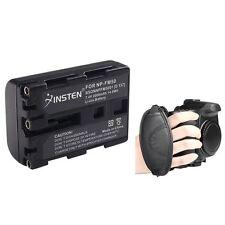 For Sony Alpha DSLR-A100 NP-FM55H NPFM55H Battery+Strap
