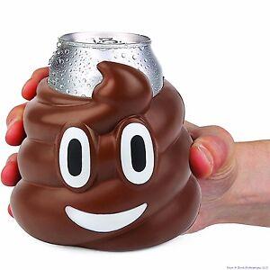 EMOJI CRAP POO TURD - Drink Can Bottle Beer Soda Cooler Foam Cooler - BigMouth