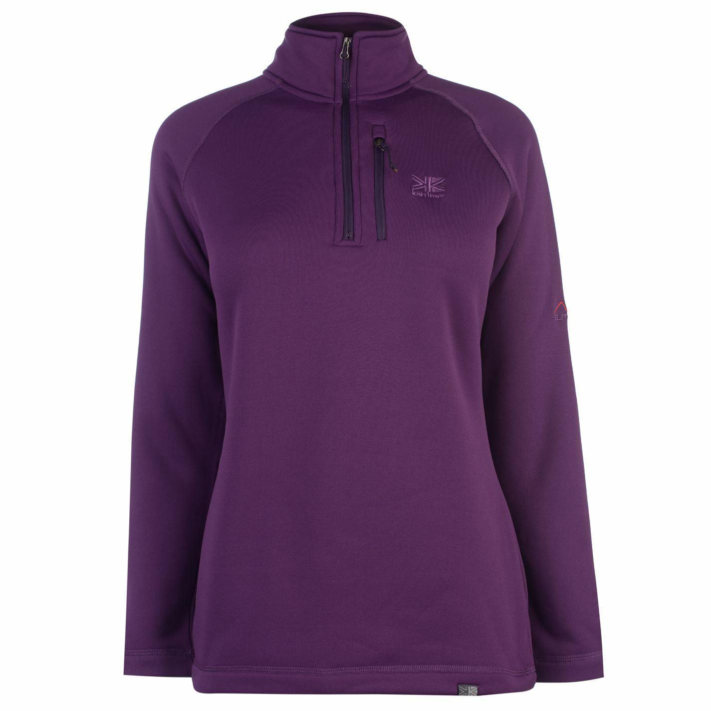 Karrimor Womens Surge half Zip Top Quarter Fleece Sweatshirt Jumper Long Sleeve