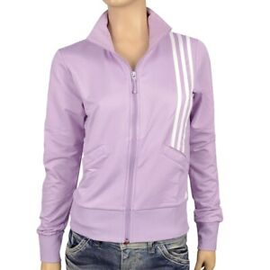 Adidas Damen Trainingsjacke Sport Jacke Fitness Jacket Top flieder violett weiss
