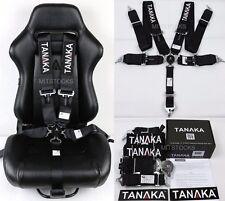 "1 TANAKA BLACK 5 POINT CAMLOCK RACING SEAT BELT HARNESS 3"" SFI 16.1 CERTIFIED"