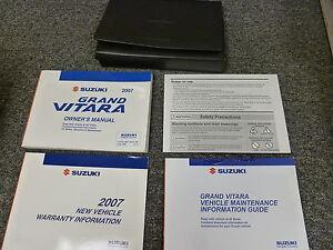 2007 suzuki grand vitara owner owner s manual user guide xsport rh ebay com suzuki grand vitara 2007 owners handbook suzuki grand vitara 2007 service manual free download