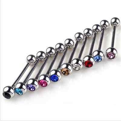 10pcs Mixed Unisex Popular Cool Barbell Lip Tongue Bar Ring Nails Body Piercing