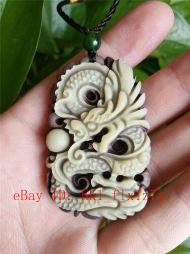 Naturel Dragon de Jade Collier pendentif Fashion Charme Bijoux Lucky Amulet Hot
