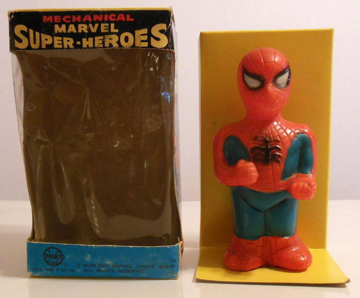 MARX Marvel Super-Heroes AMAZING SPIDER-MAN WIND UP WALKER WALKER WALKER w ORIGINAL BOX 1968 c02ecb