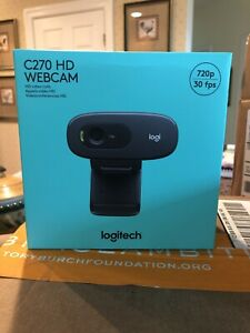 IN-HAND-Sealed-Logitech-C270-Webcam-HD-720p-Widescreen-Web-Camera-Video-Call