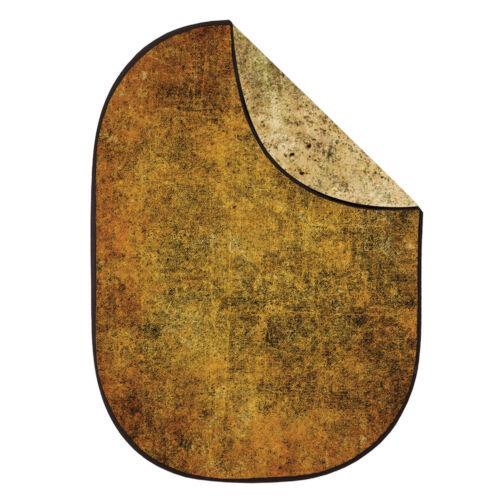 1.5x2m doble cara con textura de fondo Plegable Reversible telones de fondo marrón