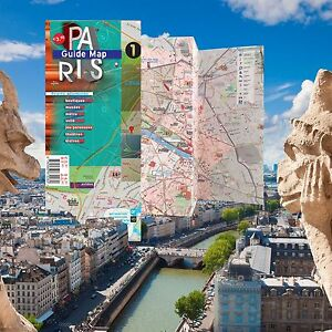 Map Laminated Paris [augmENTED reaLITY AR] - Landmarks, Metro, Rue Index
