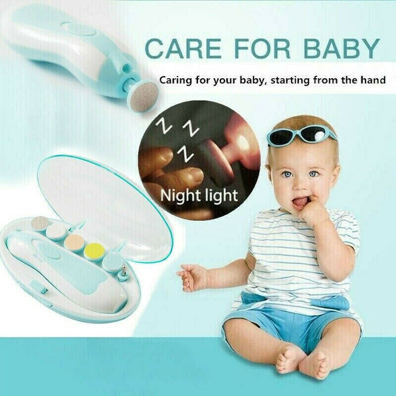 Baby Newborn Electric Nail Trimmer Kids Scissors Care Grooming Safety Clipper
