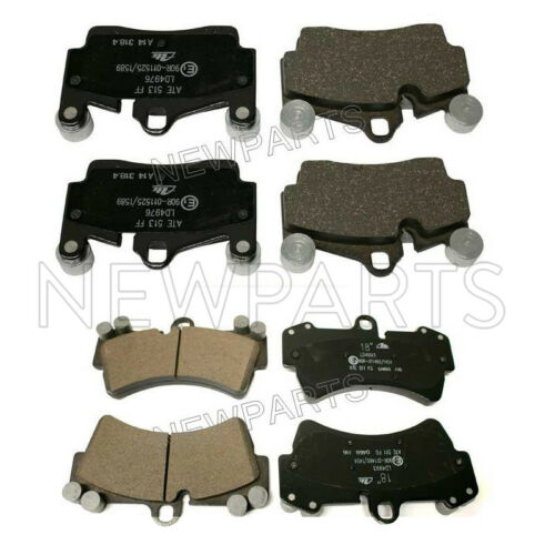 For Audi Q7 Volkswagen Touareg Rear /& Front Disc Brake Pad Set KIT Ate Ceramic