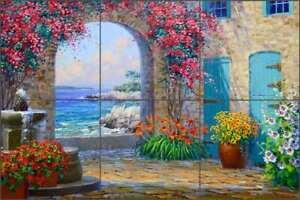 Mediterranean-Tile-Backsplash-Mikki-Senkarik-Seascape-Art-Ceramic-Mural-MSA249