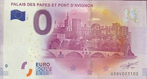BILLET-0-EURO-PALAIS-DES-PAPES-D-039-AVIGNON-FRANCE-2016-NUMERO-3100