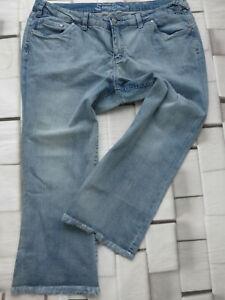Sheego-Jeans-Pants-7-8-Women-039-s-Bermuda-Capri-Pants-Size-40-to-52-Blue-320-New