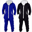 Hommes Femmes Unisexe Zippée à Capuche Combinaison onesi 1 Cosplay Sleepwear Bleu//Noir Hot