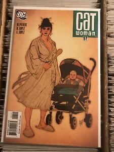 CATWOMAN 57 ROBE BABY STROLLER ADAM HUGHES COVER 2006 dc comics detective batman