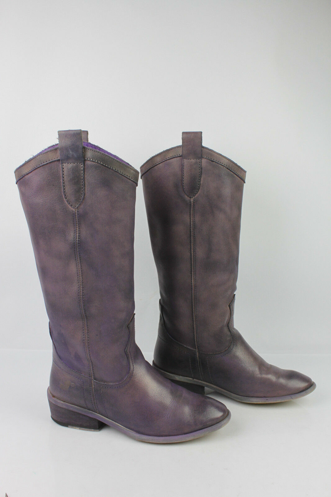 Leather Boots leather Purple Moderate slightly iridescent FELMINI T 36 BE