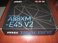Msi Amd A88xm-e45 V2 Fm2+ Sata 6gb/s Hdmi A88x Usb 3.0 Micro Atx Motherboard