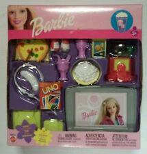 16 Piece Game Room Mattel Barbie Accessories 2002