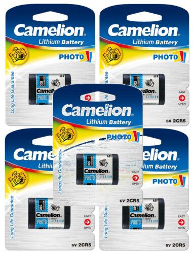 5x Camelion Photo-Batterie 2CR5 - 2 CR 5 -  6V  - 6,0V 1400 mAh DL245 2CR5M 5032