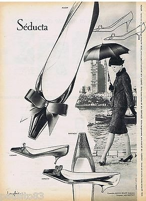 Collectibles Publicite Advertising 115 1961 Seducta Chaussures Escarpins Shrink-Proof Breweriana, Beer