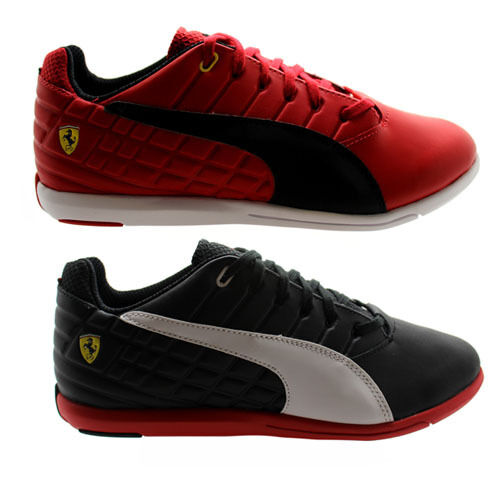 Puma Pedale up SF Hombre Rojo Negro Synthetic Lace up Pedale Trainers 305150 01/03 - D3 c1e644