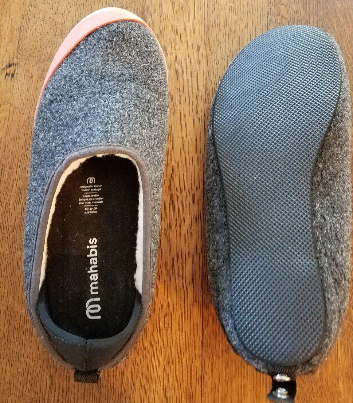 Mahabis Classic Dark Grey with detachable sole Size US men 7 CL150108