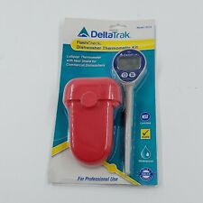 New Deltatrak 12214 Waterproof Dishwasher Thermometer Kit Withauto Cal