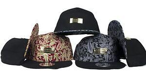 Bracelet-motif-cachemire-SP-back-caps-floral-imprime-Snapback-Chapeaux-Baseball-7-panneau-aile