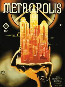 METROPOLIS-Movie-City-German-Vintage-Film-Vintage-Poster-Repro-FREE-SHIPPING