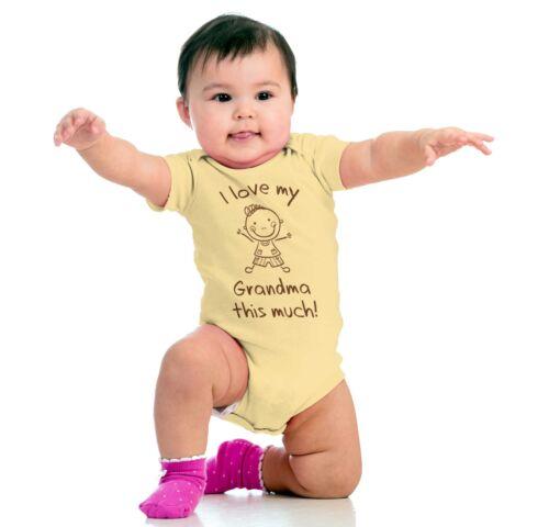 I Love Grandma Shower Adorable Family Gift Newborn Romper Bodysuit For Babies