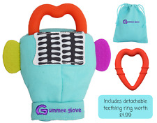 item 8 Original Gummee Glove Baby Teething Mitten Toy   Ring 3 To 6 Months  Turquoise -Original Gummee Glove Baby Teething Mitten Toy   Ring 3 To 6  Months ... 5dd3733fc07