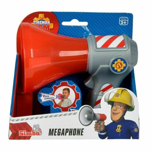 Children with megaphone voice changer Fireman Sam