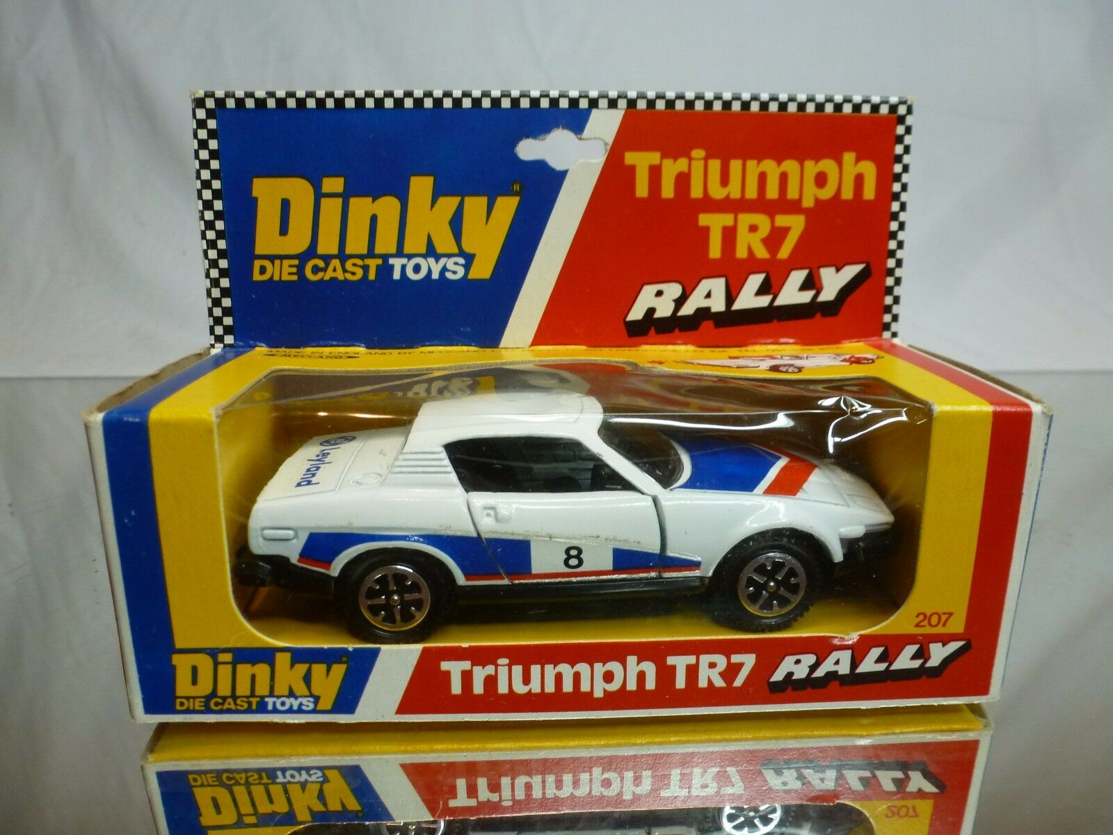 DINKY TOYS 207 TRIUMPH TR7 RALLY LEYLAND - Weiß 1 43 - GOOD CONDITION IN BOX
