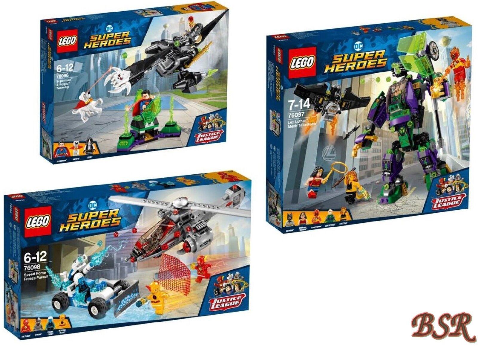 LEGO ® Super Heroes DC Comics  76096 & 76097 & 76098 & 0. - expédition & NOUVEAU & NEUF dans sa boîte