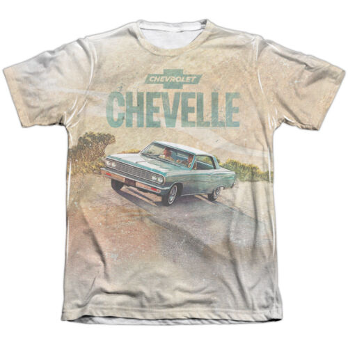 Chevrolet Classic Chevelle WINDING ROAD 1-Sided Big Print Poly Cotton T-Shirt