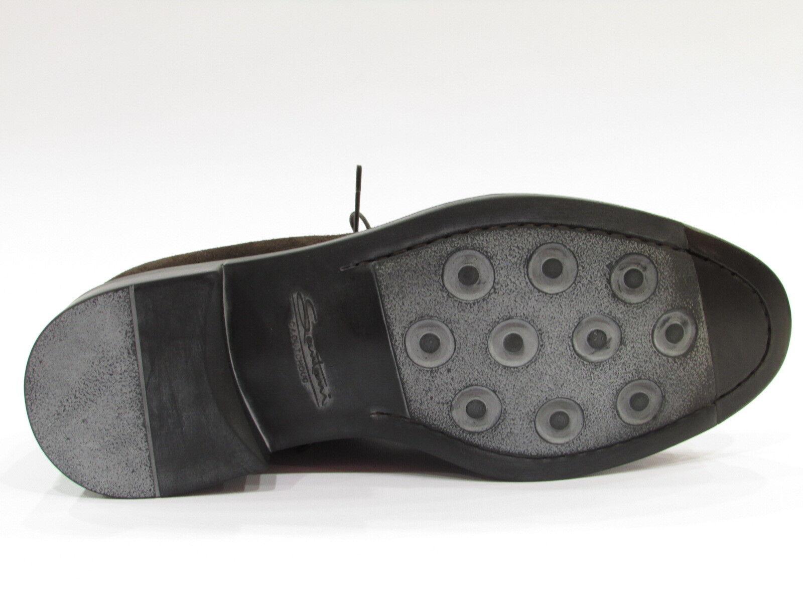 SANTONI SCARPE UOMO CLASSICHE INGLESE CAMOSCIO MARRONE SCONTATO DEL 25% Scarpe classiche da uomo
