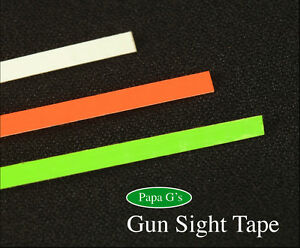 """Gun Sight Tape, Easy to Do, Don't paint! Clearly see your Front Sight! 12"""" Total"""