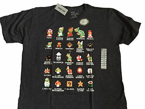 Super-Mario-Bros-Nintendo-NES-8-Bit-Cast-Vintage-Classic-Video-Game-T-Shirt
