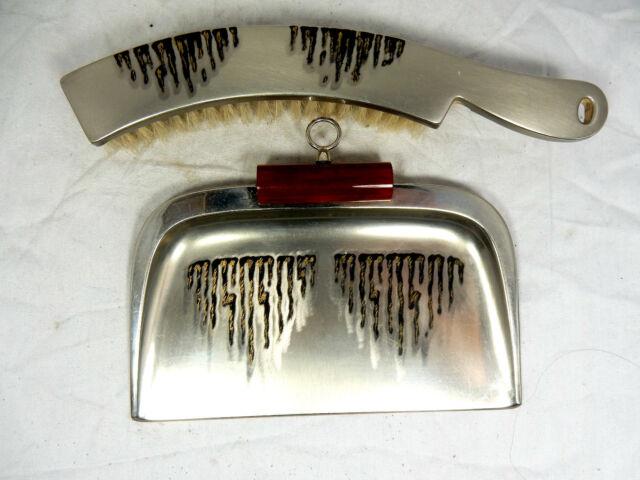 Selteners WMF Art Déco Design  crump brush set / Tischbesen Set