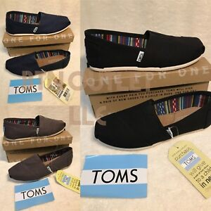 4263fb184ca7c Details about New Authentic TOMS Women's Classic Slip On Flats Canvas Shoes  US Ash Black Navy